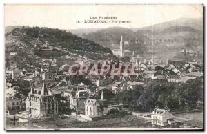 Old Postcard The Pyrenees Lourdes General view