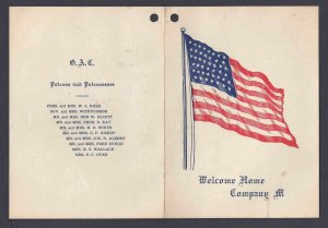 Ca 1896 45 STAR FLAG FOR COMPANY M WELCOMING, O.A.C. PROGRAM OF 21 WALTZES ETC