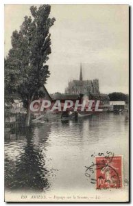 Old Postcard Landscape Amiens on the Somme