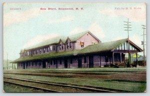 Salamanca New York~Erie Depot~Railroad Station~c1910 ZIM Postcard