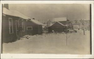 Tacoma WA East 44th St. Home & Property in Winter 1913 Real Photo Postcard