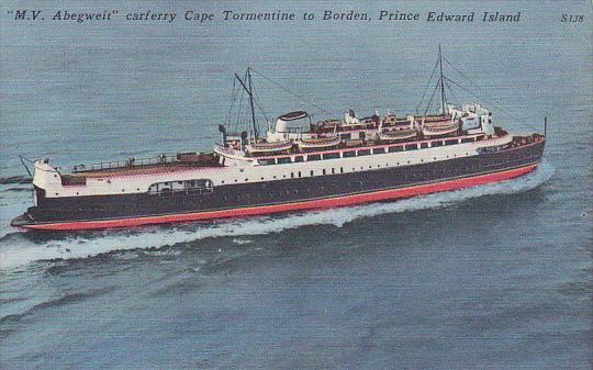 Canada M V Abegweit Car Ferry Cape Tormentine to Borden Prince Edward Island ...