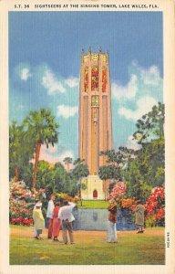 Singing Tower with Sightseers Mountain Lake Sanctuary Lake Wales FL