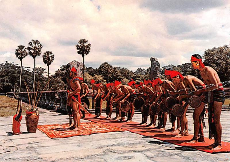 Angkor Cambodia, Cambodge Folk Dance of Khmers Loue Angkor Folk Dance of Khme...