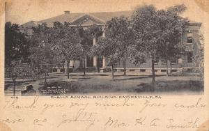 Gainesville Georgia~Main Street School~Demolished 1979~1907 B&W Postcard