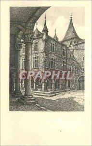 Modern Postcard Echternach Under Arcades of Place