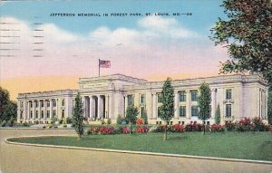 Jefferson Memorial In Forest Park Saint Louis Missouri 1944