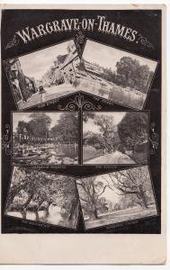 Berkshire; Wargrave On Thames Multiview PPC 1909 PMK, Shows High St, Regatta etc
