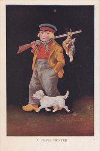 Boy Bird hunter & dog , 00-10s