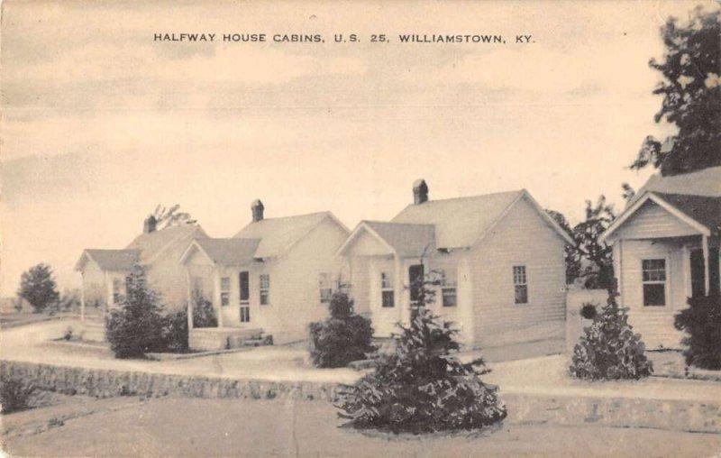 Williamstown Kentucky Halfway House Cabins Vintage Postcard AA39802