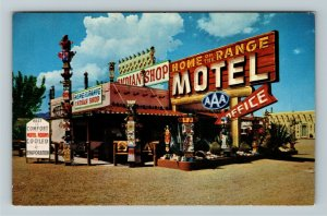 Bowie AZ- Arizona, Home on the Range Motel, Advertising, Chrome Postcard
