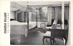 Neuse North Carolina Scandia Village Room Interior Vintage Postcard JI658252