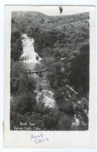 RPPC Bird's Eye of Turner Falls, Oklahoma, OK, 1951