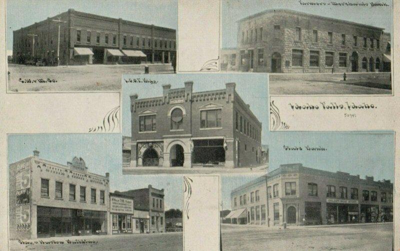 IDAHO FALLS , Idaho , 1900-10s ; 5-view postcard