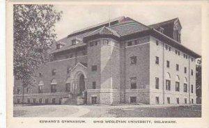 Ohio Delaware Edwards Gymnasium Ohio Wesleyan University Albertype