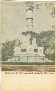 Soldier's Monument, Boston Common early 1900s, home made ...