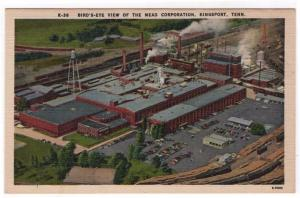 Kingsport, Tennessee, Early Birds-eye View of The Mead Corporation