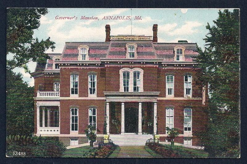 Governor's Mansion Annapolis MD unused c1910's