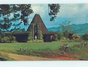 Unused Pre-1980 CHURCH SCENE Kauai Hawaii HI hs6392