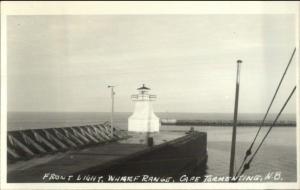 Front Lighthouse Wharf Range Cape Tormentine New Brunswick Real Photo Postcard