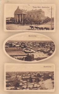 3-Views, Town Hall, Panorama Of Kimberley, South Africa, 1900-1910s