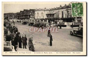 Old Postcard Deauville La Plage Fleurie Casino