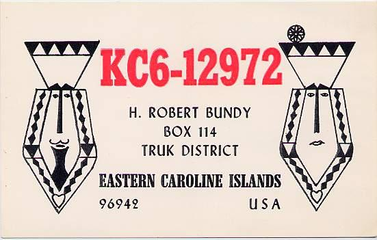 Short Wave Radio Listener Card Truk Islands Eastern Caroline Islands Micronesia