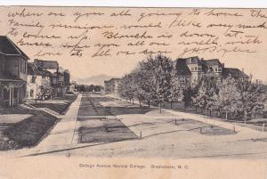 GREENSBORO, North Carolina, PU-1908; College Avenue Normal College
