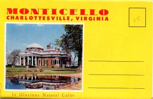 Folder - Monticello, Charlottesville, VA   (12 views + narrative)