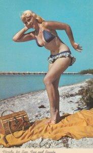 PIN-UP; Blue bikini , 1950-60s