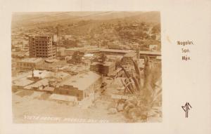 NOGALES SONORA MEXICO-VISTA PARCIAL-MF REAL PHOTO POSTCARD 1940s