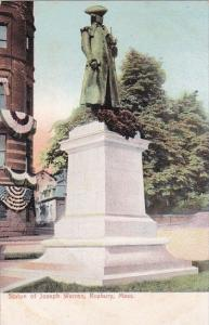 Massachusetts Roxbury Statue Of Joseph Warren