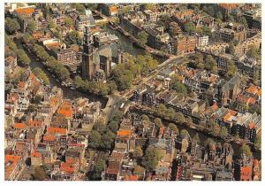 Netherlands Westerkerk Amsterdam Schiphol Air view Church Bridges Ponts