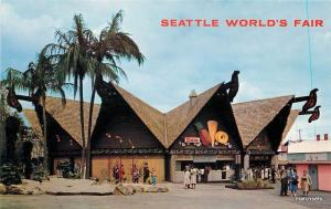 1962 Tiki Seattle Washington World Fair Hawaiian Pavilion Johnston 11674