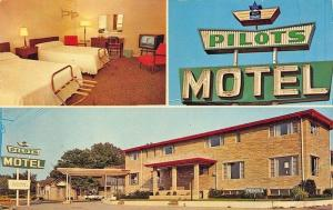 Baltimore MD Pilots Motel Multi-View Television Postcard
