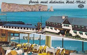2-views,  Hotel-Motel Perce-sur-mer,  Perce,   Quebec,  Canada,   40-60s