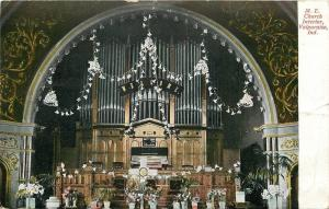Valparaiso~Decorated w/Easter Lilies~Pipe Organ~United Methodist Episcopal 1909