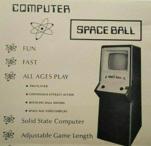 Computer Space Ball Nutting Arcade FLYER Original 1972 Print Retro Video Game