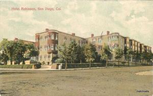 C-1910 Hotel Robinson San Diego California Newman postcard 4747