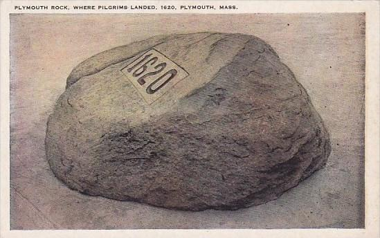 Massachusetts Plymouth Rock Where Pilgrims Landed 1620
