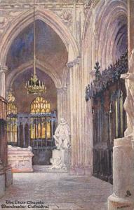 TUCK #6185, The Choir Chapel, Manchester Cathedral, England, UK, 1900-1910s