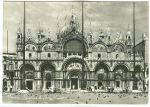 Italy, Venice, Venezia, Basilica di S. Marco, used real photo Postcard
