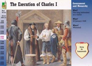 Charles 1st I Execution Death Postcard Style Trading Card Ephemera