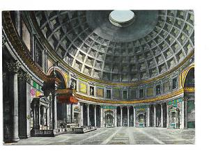 Italy Rome Pantheon Interior Dome Vntg Kodak Ektachorme 4X6 Postcard