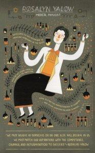 Rosalyn Yalow Medical Physicist Nobel Prize Scientist Postcard