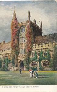 Founders Tower at Magelen College - Oxford, England, United Kingdom - UDB