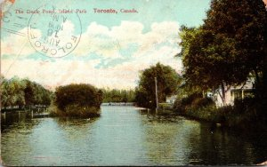 Canada Toronto Island Park The Duck Pond 1909