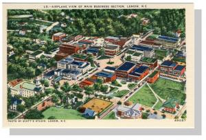 Lenoir, North Carolina/NC Postcard, Airplane View,Near Mint!