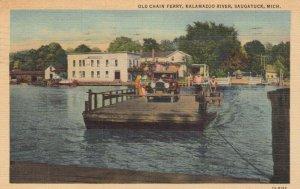 SAUGATUCK , Michigan , 1942 ; Old Chain Ferry, Kalamazoo River