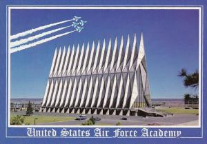 The Chapel And Peace Monument At The United States Air Force Academy Colorado...